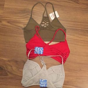 🆕 Free People  Strappy Side Bundle of 3 XS